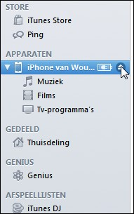 Koppel de iPhone los in iTunes na het maken van de back-up