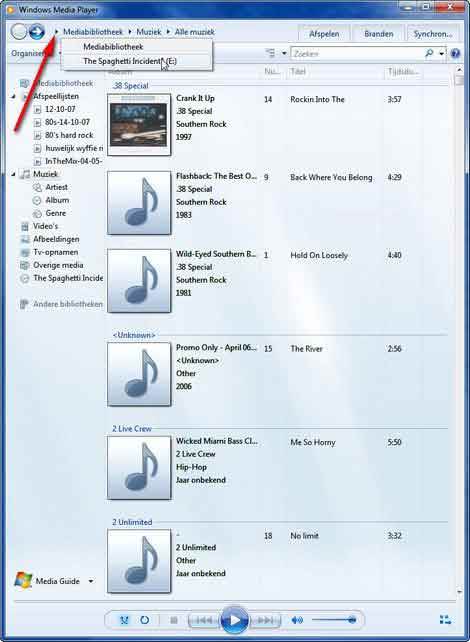 muziek-cd rippen met Windows Media Player
