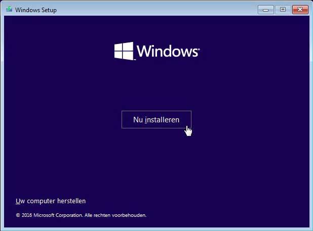 Afbeeldingsresultaat voor windows installeren